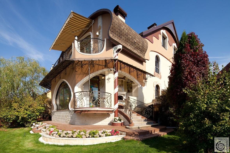 Дома в стиле модерн фото