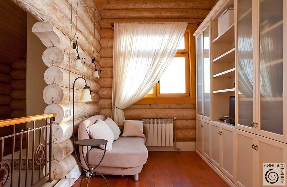 интерьер второго этажа деревянного дома фото