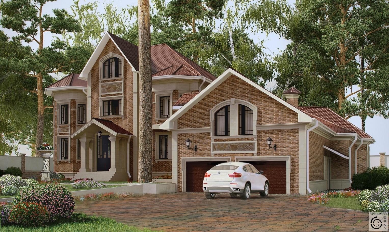 Классические загородные дома фото