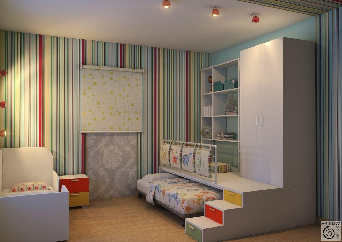Планировка детской комнаты для двоих детей 18 м фото