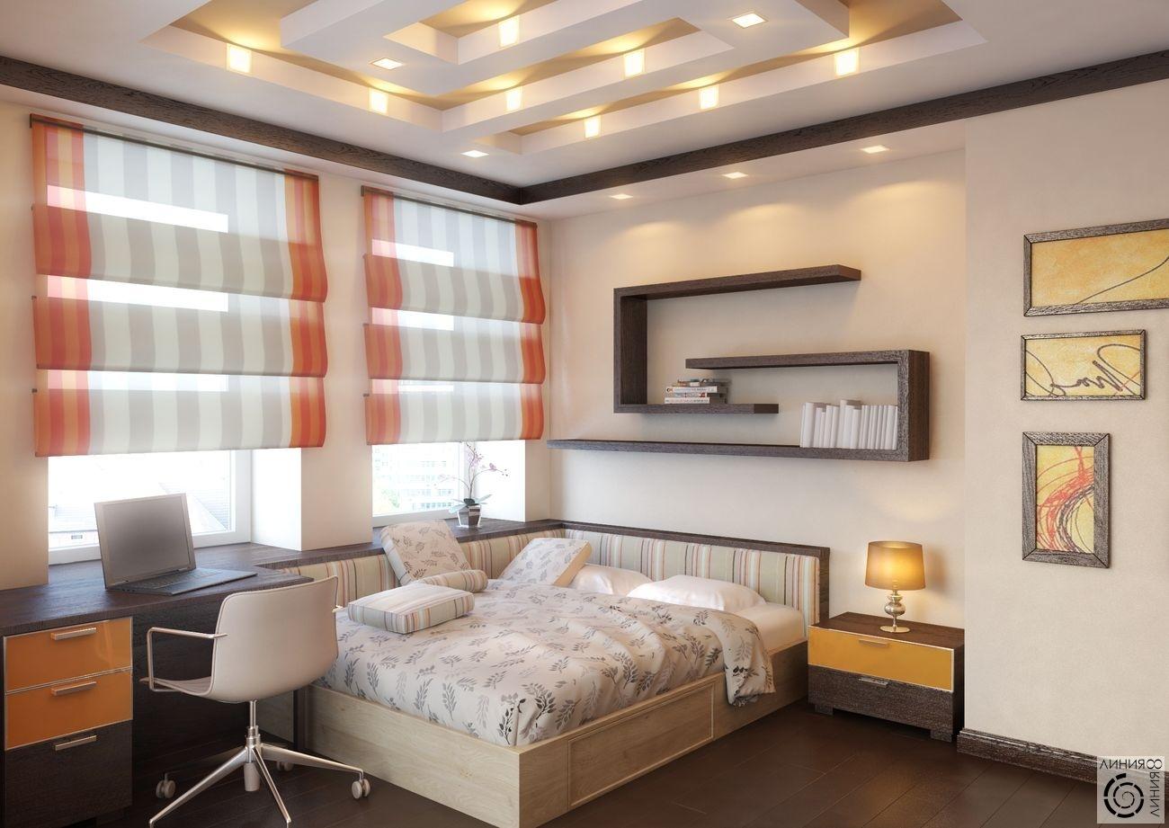 Комната с двумя окнами на разных стенах дизайн хрущевка дизайн