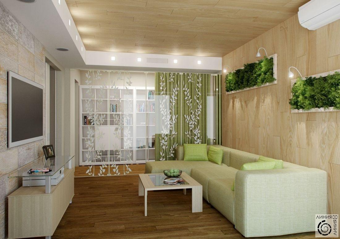 Дизайн эко гостиной