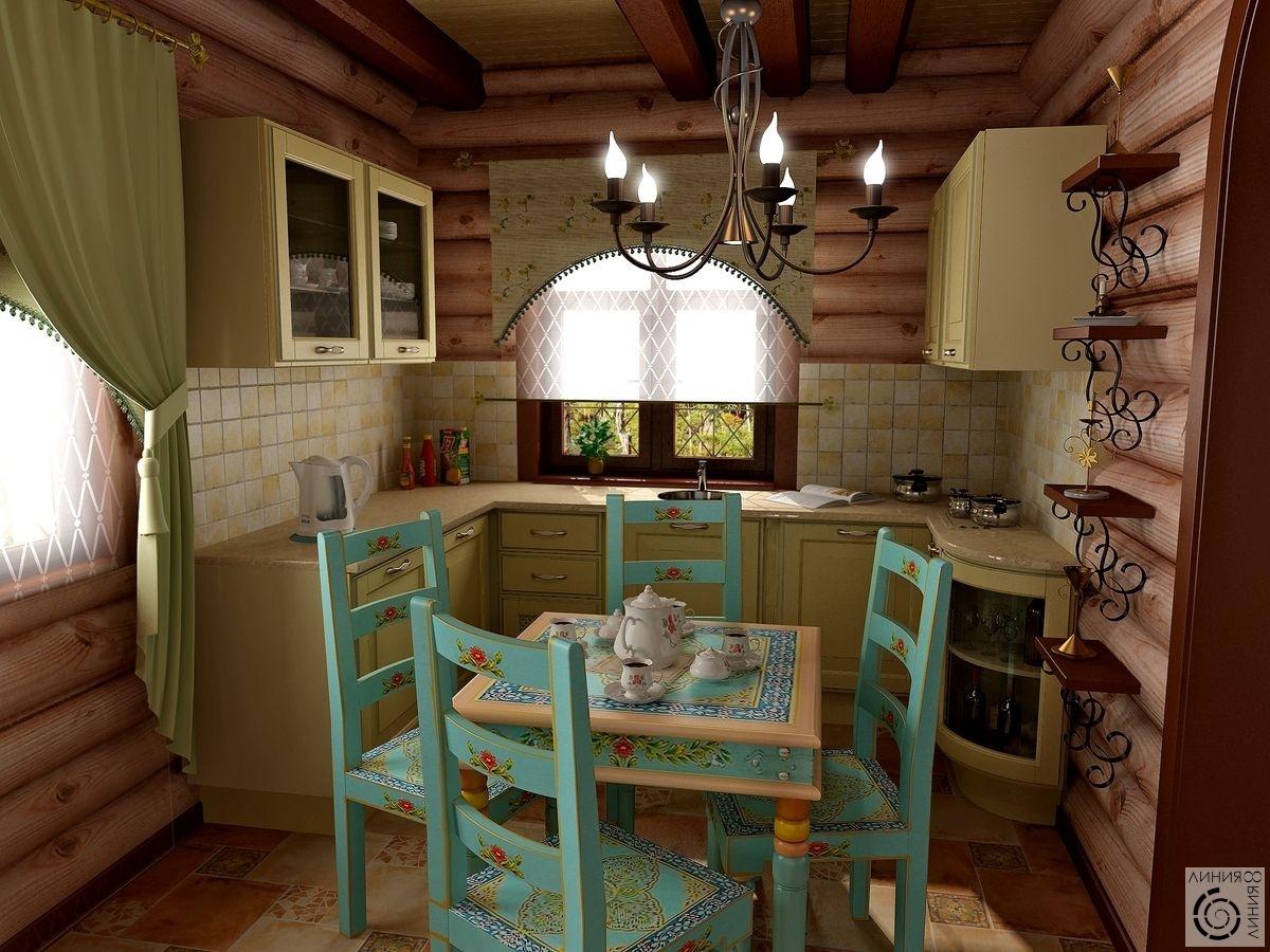 Идеи интерьера для кухни в деревянном доме