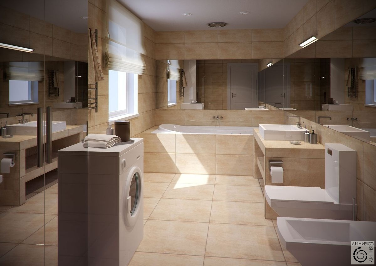 ванной комнаты маленького размера со