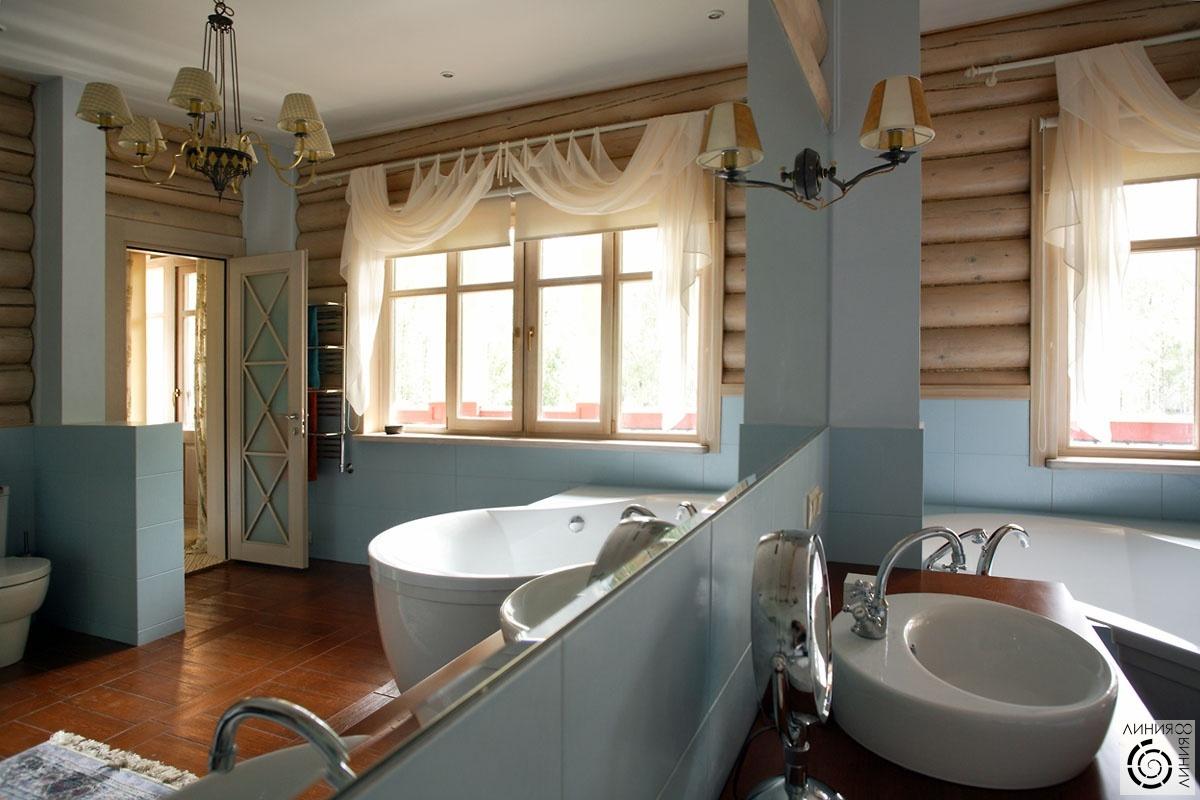 Дизайн в бревенчатом доме фото