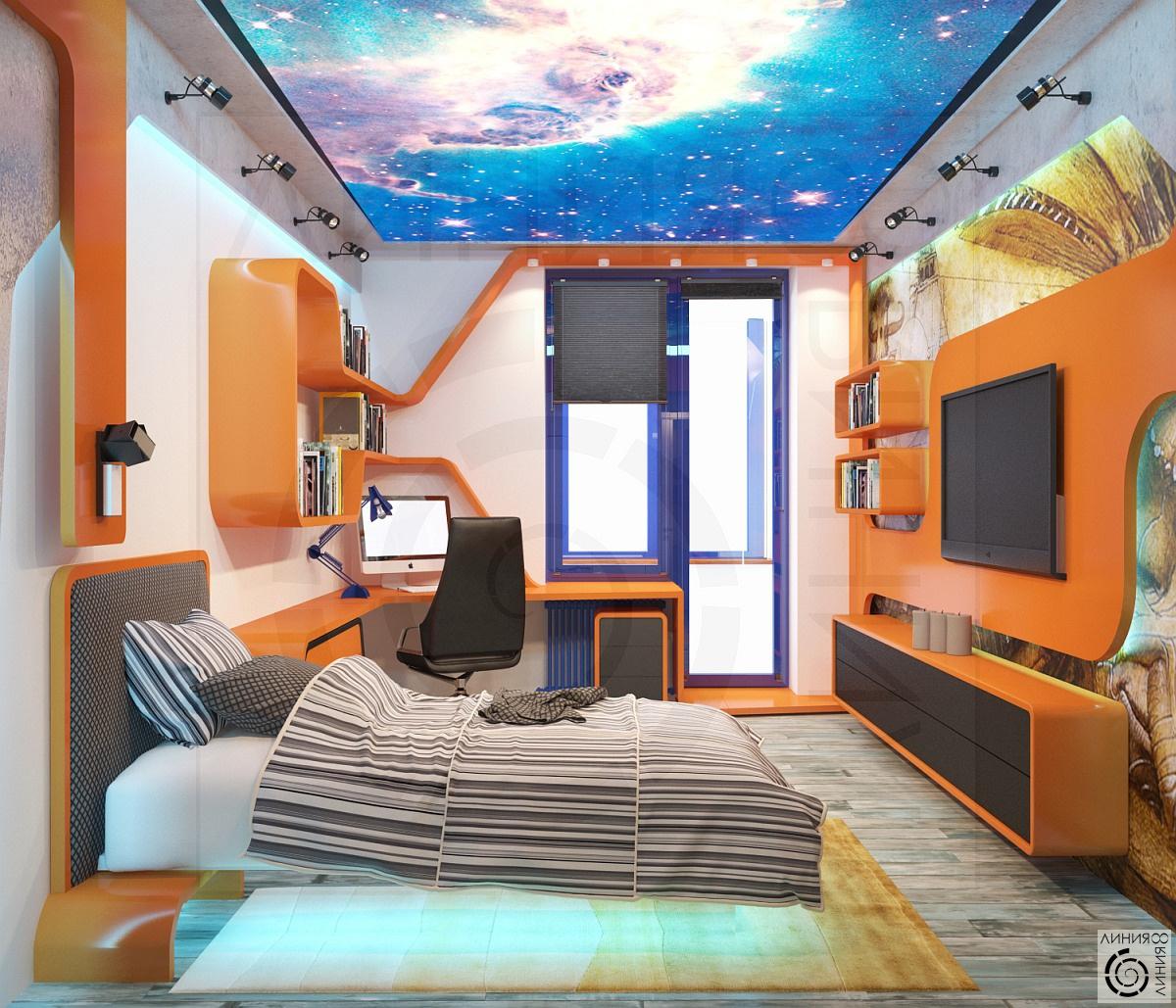 Дизайн комнаты 16 квадратных метров