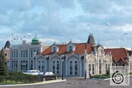 Архитектурный проект для торговых рядов и автовокзала в г. Железнодорожный Московской области